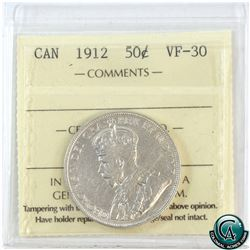 50-cent 1912 ICCS Certified VF-30.