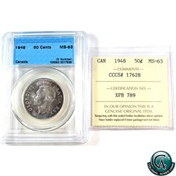 50-cent 1948 CCCS/ICCS Certified MS-63 (Cross Graded)