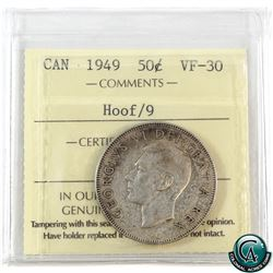 50-cent 1949 Hoof over 9 ICCS Certified VF-30