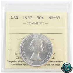 50-cent 1957 ICCS Certified MS-65.