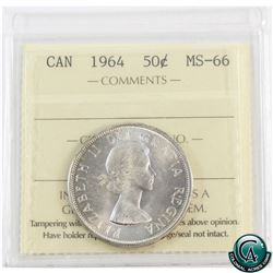50-cent 1964 ICCS Certified MS-66.