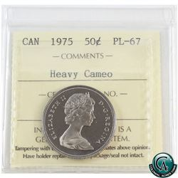 50-cent 1975 ICCS Certified PL-67 Heavy Cameo.