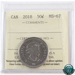 50-cent 2018 ICCS Certified MS-67. Tied for finest known.