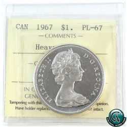 Silver $1 1967 ICCS Certified PL-67 Heavy Cameo.