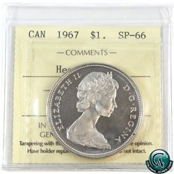 Silver $1 1967 ICCS Certified SP-66 Heavy Cameo