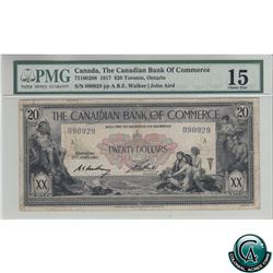 75-16-02-08 1917 Canadian Bank of Commerce $20. Walker-Aird, S/N: 090929-A PMG Certified Choice F-15