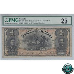 DC-13b 1898 Dominion of Canada $1, Series G, One's Outward, Various-Courtney, S/N: 151813-D PMG Cert