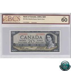 BC-33b 1954 Bank of Canada $20, Beattie-Coyne, Devil's Face, CE 1721621, BCS UNC-60