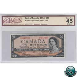 BC-34a 1954 Bank of Canada Devil's Face $50, Coyne-Towers, S/N: A/H0047995 BCS Certified EF-45 Origi