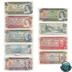 Set of 9 Matching SPECIMEN Notes of the 1969-1979 Multicolour Issues (Set#357) PMG Certified Gem UNC