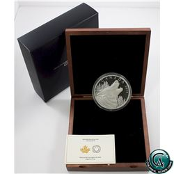 RCM Issue: 2014 Canada $125 Howling Wolf Half Kilo Fine Silver Coin (capsule scratched & outer sleev