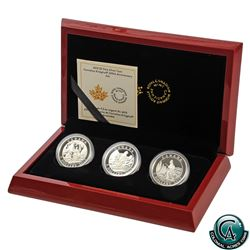 RCM Issue: 2015 Canada $5 Cornelius Krieghoff 200th Anniversary 3-coin Fine Silver Set (TAX Exempt)