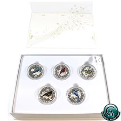 RCM Issue: 2015 Canada $10 Colourful Songbirds 5-Coin Fine Silver Set in Deluxe Display (TAX Exempt)