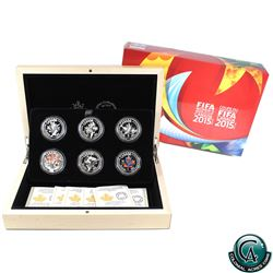 RCM Issue: 2015 Canada $10 FIFA Women's World Cup Fine Silver 6-coin Set (TAX Exempt)