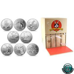 RCM Issue: Complete 2015 Canada $10 Looney Tunes 8-coin Fine Silver Set with Display Box (TAX Exempt