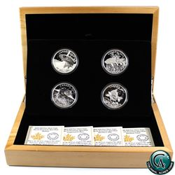 RCM Issue: 2015 Canada $20 American Sportfish 4-Coin Fine Silver Set in Deluxe Case (TAX Exempt)