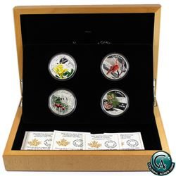 RCM Issue: 2015 Canada $20 Forests of Canada 4-Coin Fine Silver Set in Deluxe Display (sleeve bent o