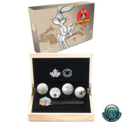 RCM Issue: 2015 Canada $20 Looney Tunes Classic Scenes 4-coin Fine Silver Set with Wristwatch (Daffy