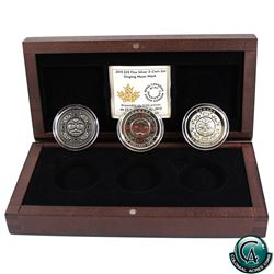 RCM Issue: 2015 Canada $25 Singing Moon Mask Fine Silver 3-coin Set (TAX Exempt)