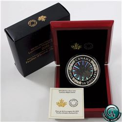 RCM Issue: 2015 Canada $50 Lustrous Maple Leaves 5oz. Fine Silver Hologram Coin (outer sleeve has li