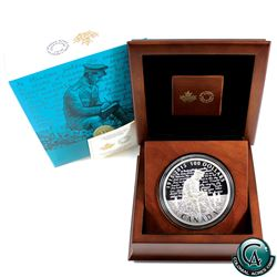 RCM Issue: 2015 Canada $100 100th Anniversary of In Flanders Fields 10oz Fine Silver Coin (capsule i