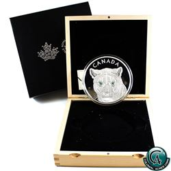 RCM Issue: 2015 Canada $250 In The Eyes of the Cougar Kilo Fine Silver Coin (capsule lightly scuffed