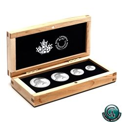 RCM Issue: 2015 Canada Bald Eagle Fractional Fine Silver 4-coin Set (1/2oz capsule is lightly scratc