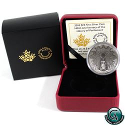 RCM Issue: 2016 Canada $25 The Library of Parliament Fine Silver Coin (Tax Exempt)