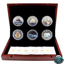 RCM Issue: 2016 Canada Big Coin Coloured 5oz 6-coin Set in Deluxe Case (50-cent & $2 capsules are li