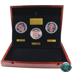 RCM Issue: Canada 2016 5oz Mythical Realms of the Haida 3-coin Fine Silver Set (capsules are lightly