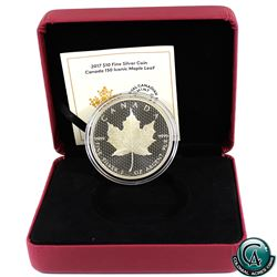 RCM Issue: 2017 $10 Canada 150 Iconic Maple Leaf 2oz. Fine Silver Coin. (TAX Exempt)