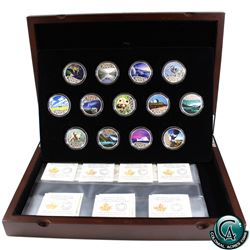RCM Issue: 2017 Canada $10 Celebrating Canada's 150th Fine Silver 13-coin Set in Deluxe Box. (TAX Ex