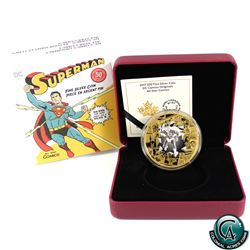 RCM Issue: 2017 Canada $50 DC Comics Originals - All Star Comics 3oz. Gold Plated Fine Silver Coin.