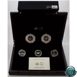 RCM Issue: 2017 Canada Legacy of the Penny Fine Silver 5-coin Set (TAX Exempt)