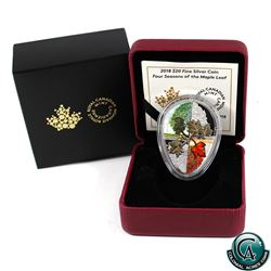 RCM Issue: 2018 Canada $20 Four Seasons of the Maple Leaf Fine Silver Coin (Tax Exempt)