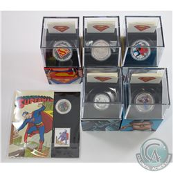 2013 Canada 6-coin Superman Collection. You will receive the 50-cent Coin & Stamp set, $10 Vintage S