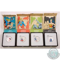 2015 Canada $10 DC Comics- Legacy, Unity, Strength, Gauntlet Fine Silver Coin Collection (Tax Exempt