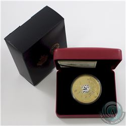 2017 Canada $50 Whispering Maple Leaves Gold Plated 3oz. Silver Coin (Tax Exempt) Minor wear to oute