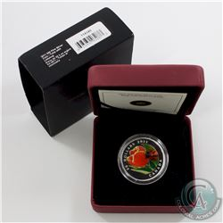 2011 Canada $20 Tulip with Venetian Glass Ladybug Fine Silver Coin (Tax Exempt) Minor wear on outer