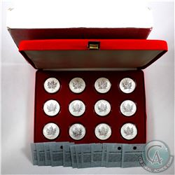 Complete 2004 Canada $5 Zodiac Privy Silver Maple 12-Coin Set (Tax Exempt) You will receive each of