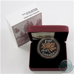 2018 Canada 1-cent Big Coin Rose-Gold Plated 5oz. Fine Silver (Tax Exempt)