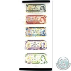 Set of 1969-1970's Canada $1 to $20 Banknote collection in Acrylic Display.  You will receive a 1973