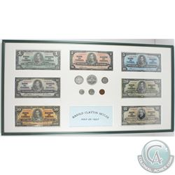 Complete 1937 Canada Banknote & Coin Collection in Presentation Frame.  You will receive the 1937 $1
