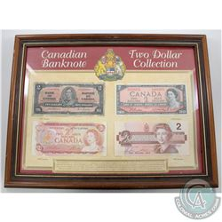 1937-1986 Canada $2 Banknote Collection in Presentation Frame.  You will receive the 1937 (Osbourne-