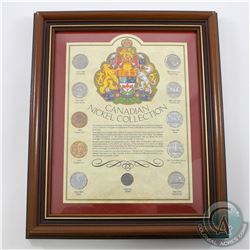 Canada Nickel Collection in Frame. You will receive 11 coins in this collection representing the dif