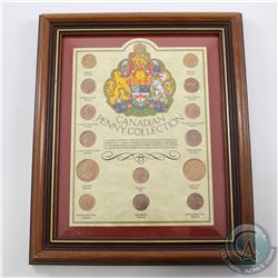 Canada Penny Collection in Frame. You will receive 14 coins in this collection representing the diff