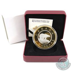 2019 Canada $2 Big Coin Reverse Gold Plated 5oz Fine Silver Coin (Tax Exempt) Missing outer box.