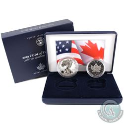 2019 USA & Canada Pride of Two Nations - Limited Edition 2-Coin Set (Tax Exempt) 'US Mint' edition.
