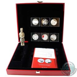 China 2015 Discover China Fine Silver 6-coin Set with Terracotta Warrior (Tax Exempt). You will rece