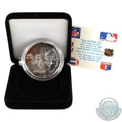 Limited Edition Wayne Gretzky No. 99 LA Kings 1oz .999 Fine Silver Round (Tax Exempt) Toned.